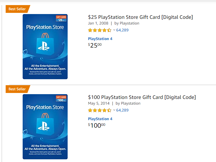 buy psn digital code on amazon