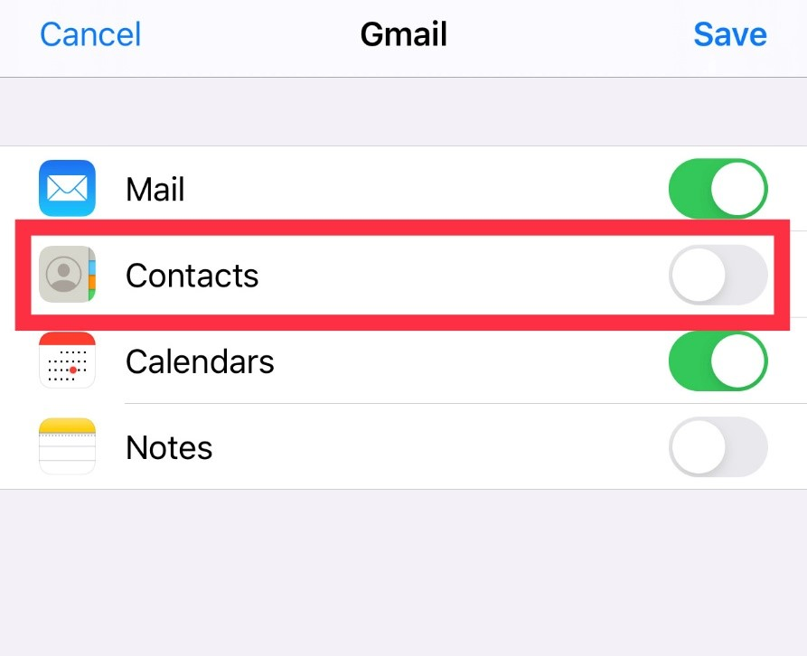 backup contacts on ios
