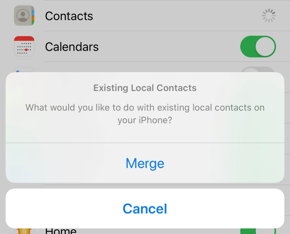 merge contacts on ios