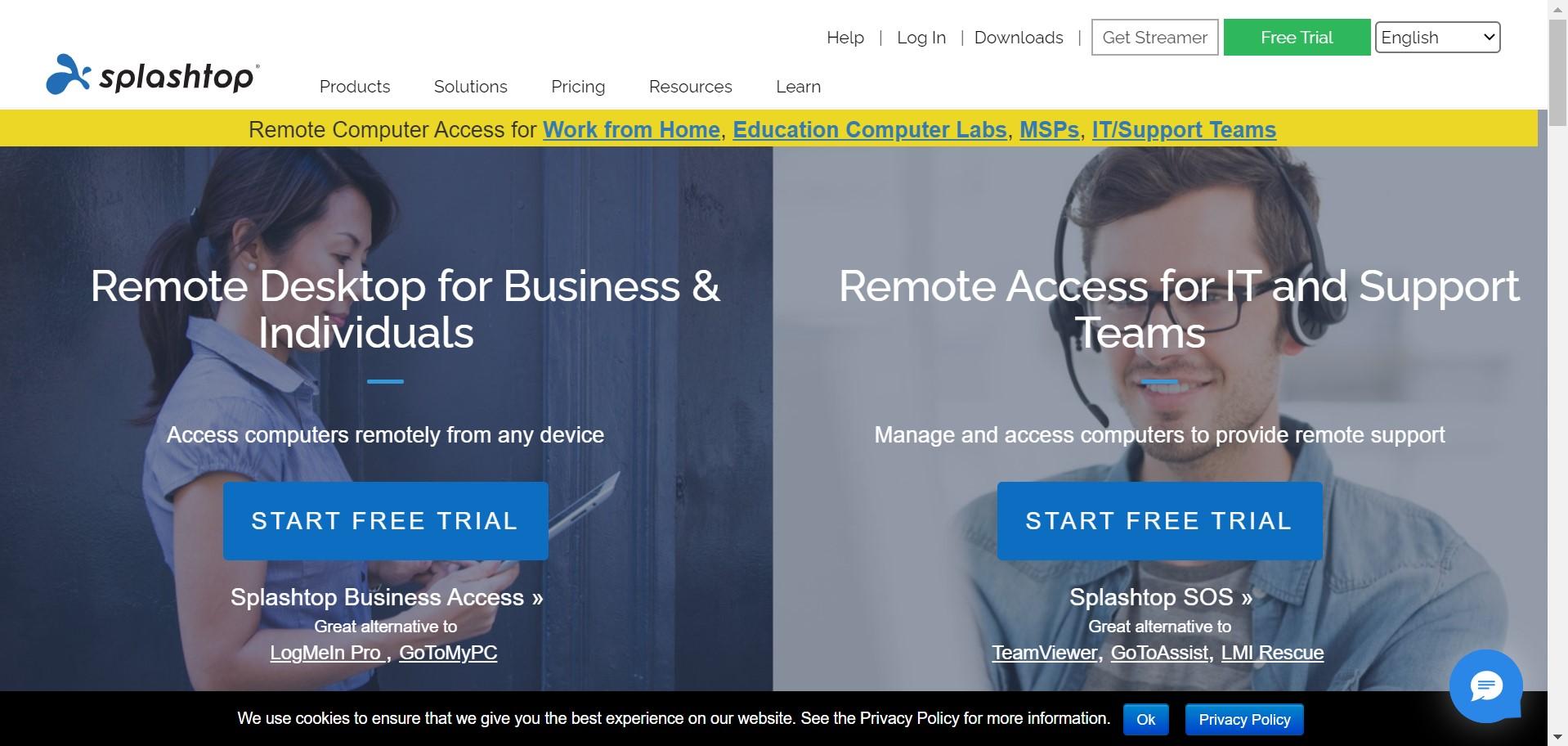 splashtop remote desktop apps