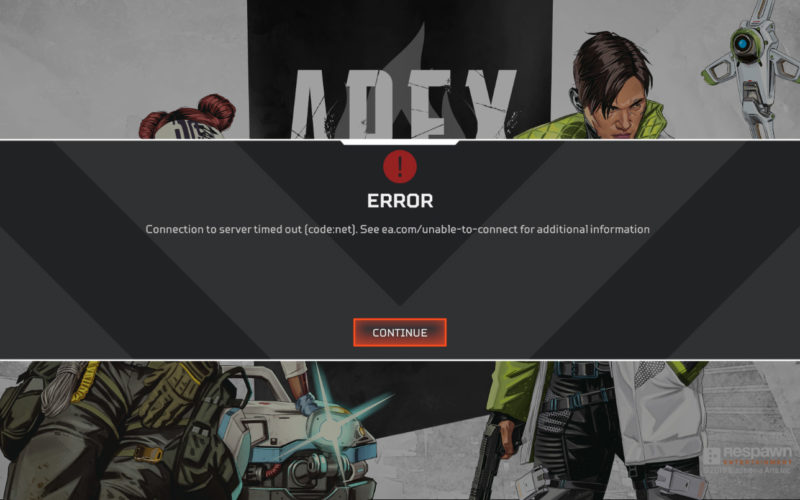 How to Fix Apex Legends Connection to Server Timed Out
