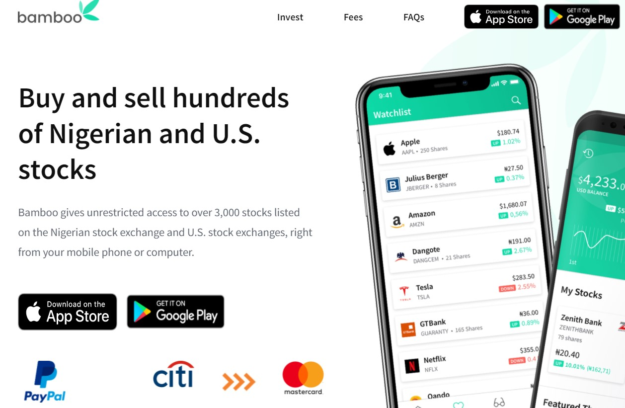 invest bamboo best investment apps