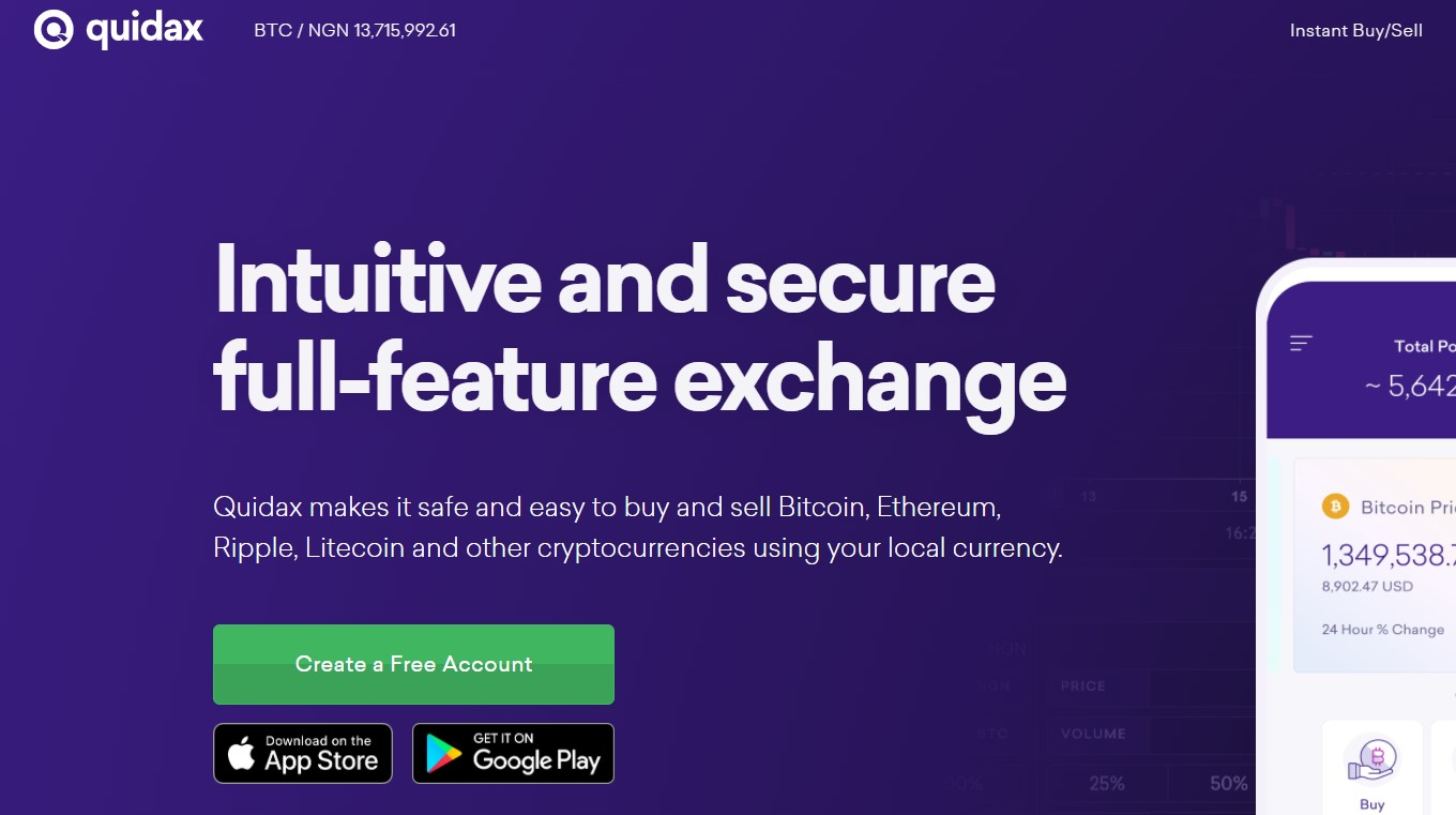 Quidax trade cryptocurrency in Nigeria