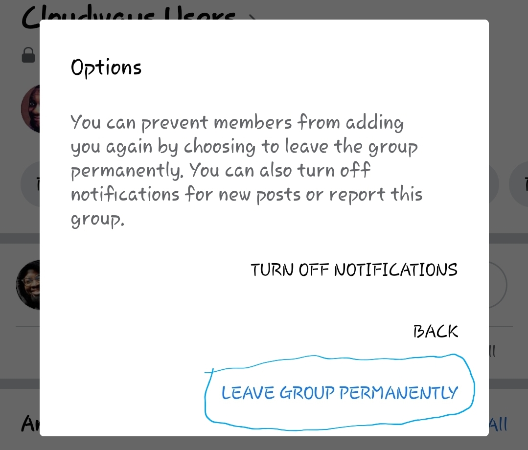 how to leave facebook groups easily