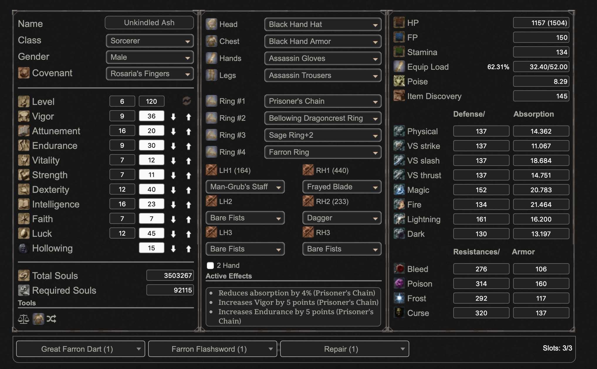 Frayed Blade Build